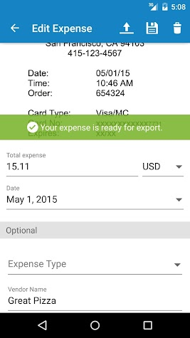 ExpenseIt from Concur Screenshot