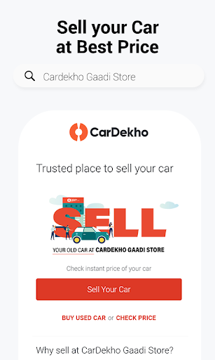 CarDekho: Buy/Sell New & Second-Hand Cars, Prices screenshot 2