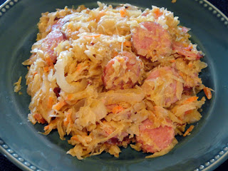Creamy Kielbasa/kraut Surprise Recipe