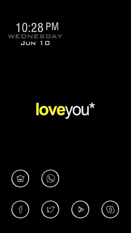 android Love Words Theme Screenshot 0