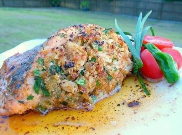 Slammin' Crab Stuffed Salmon Recipe