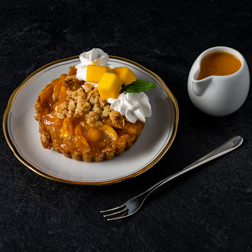 """Mango Peach Crumble Pie (4"""" Whole) 🥭"""