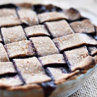Vegan Blueberry Pie with Spelt Crust