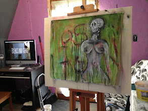 Photo: First painting in the new studio.