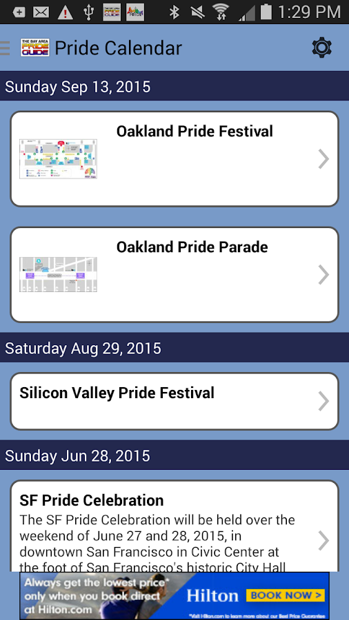Bay Area Pride Guide- screenshot