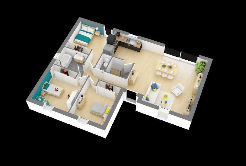 Vente Terrain + Maison - Terrain : 445m² - Maison : 83m² à Nozay (44170)