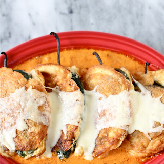 Chile Rellenos with Chipotle Cream Sauce