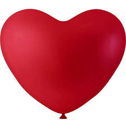 Ballonger hjärta röd 8/fp
