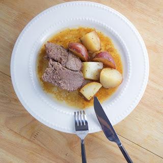 Roasted Leg Of Lamb With Potatoes