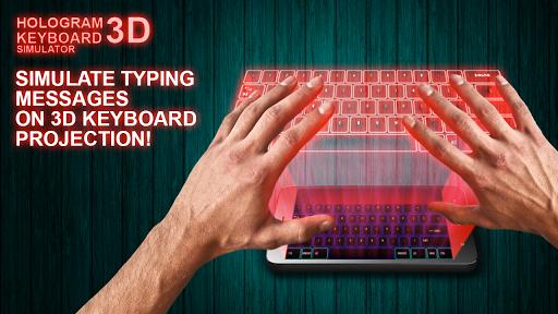 Hologram Keyboard 3D Simulator