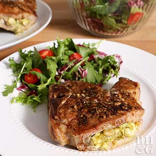 Pesto-Stuffed Pork Chops Recipe