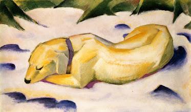 """Photo: Franz Marc, """"Cane sdraiato nella neve"""" (1910)"""