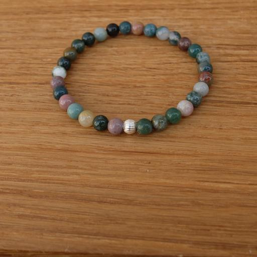 bracelet jaspe heliotrope