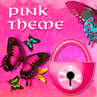 Pink Butterfly Theme GO Locker icon