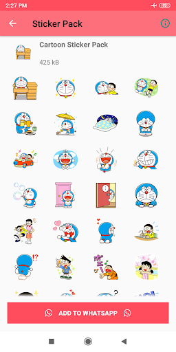 Cartoon Stickers for Whatsapp - WAStickerApps ss3