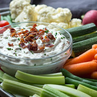 Creamy Bacon Horseradish Dip (low carb dip for veggies).