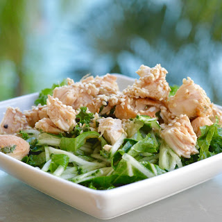 Salad with Cucumber & Asian Chicken