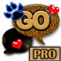 Gold Leopard Theme for GO SMS icon