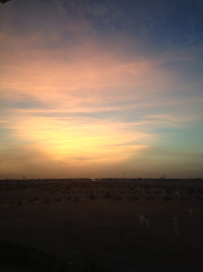 Sunset in Masdar city, Abu Dhabi, UAE
