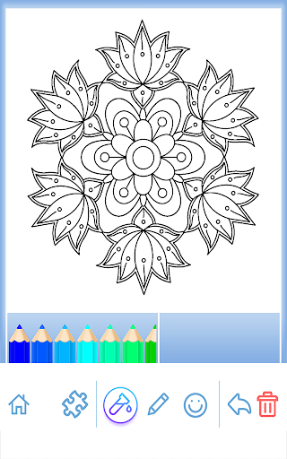 Flowers Mandala Coloring Book Apk 420