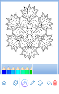 Game Flowers Mandala Coloring Book APK For Kindle