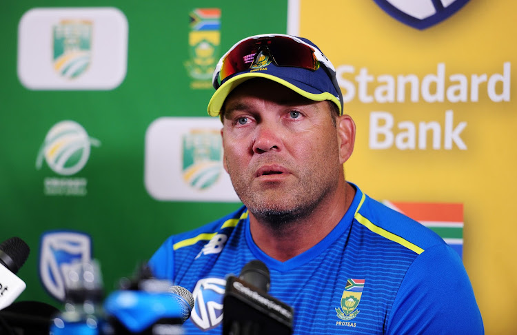 Proteas batting consultant Jacques Kallis speaks to the media after the end of day four at Newlands in Cape Town on January 6 2019.