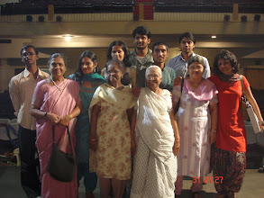 Photo: [from left] abhishek tarkas, mrs. patrutkar, dr. lakshmi, jagat's sister, pallavi patrutkar, shajil raveendran, gowrishankar, jagat's mother, vinay, mrs. jagat tarkas, pallavi shreedhar