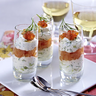 Salmon and Cream Cheese Parfaits