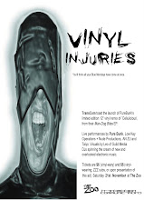 Photo: Advertisement for Vinyl Injuries event. Design by Michael Nolan.