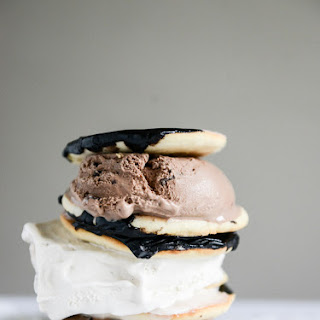 Black and White Cookie Ice Cream Sandwiches