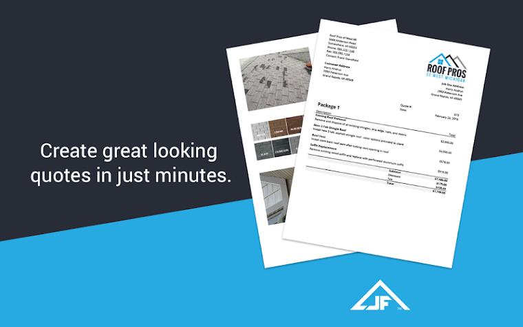 Invoice Maker & Simple Contractor Estimating App Screenshot