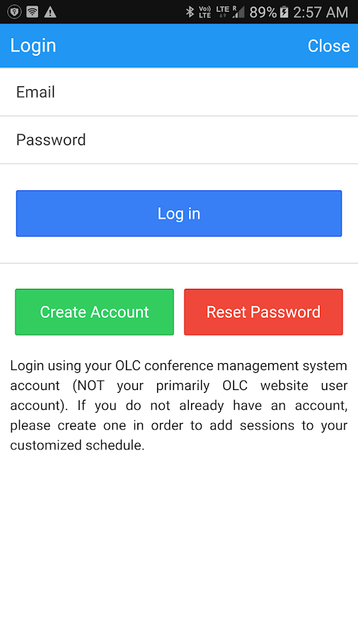 OLC Conferences- screenshot