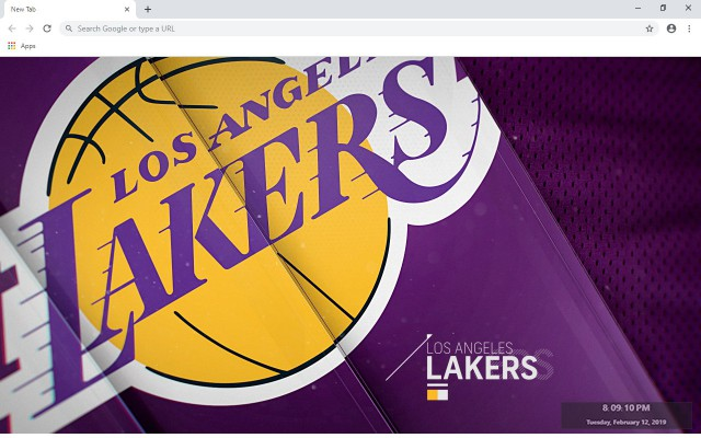 LA Lakers New Tab & Wallpapers Collection