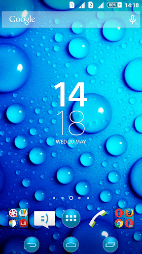 Bubbles Blue Xperien Theme