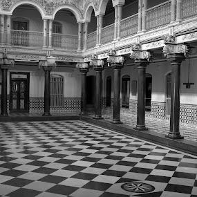 Black N White by Saravanan Veeriah - Buildings & Architecture Other Interior ( black n white, building interiors, interiors, black and white, interior, building, monotone )