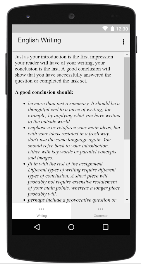 english writing skills guide android apps on google play english writing skills guide screenshot
