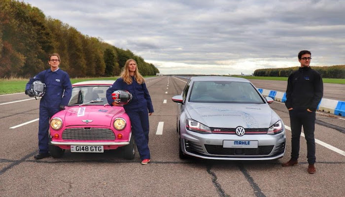 Pink Mini Races GTI Supercharged Golf MAHLE Powertrain LTD. | Krys Kolumbus Travel Blog