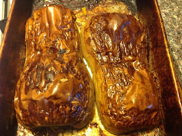 Bake at 300 degrees for 2 1/2-3 hrs until skin is golden brown and...