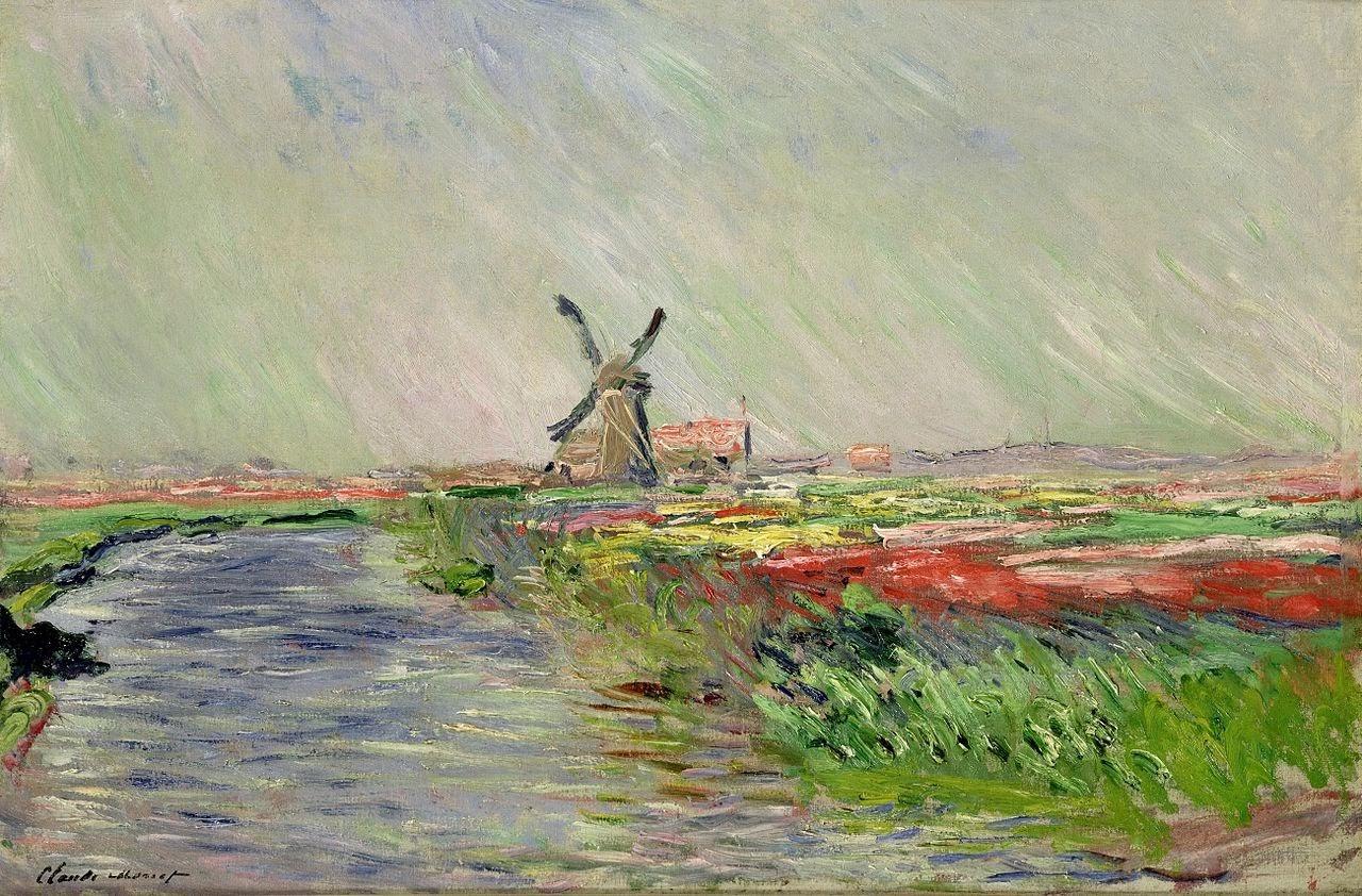 Tulip Field in Holland by Claude Monet 1886.