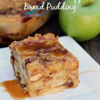 Salted Caramel Apple Bread Pudding.