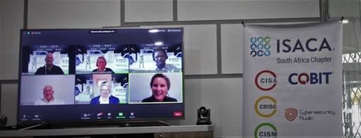 From left: Digital Transformation Panel Discussion: Moderator Winston Hayden with panellists Carolynn Chalmers, Sebenzile David Mazula, Anton Bouwer, Prof Josef Langerman and MC & Programme Coordinator, Verity Price