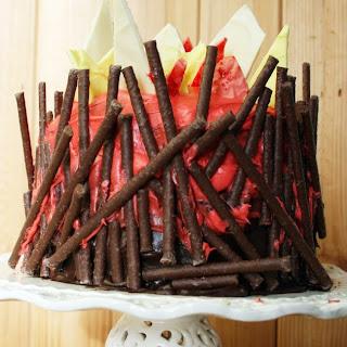 Triple Layer Bonfire Cake.