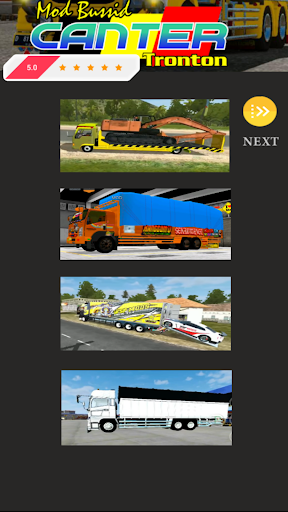 Mod Bussid Canter Tronton 1.1 screenshots 2