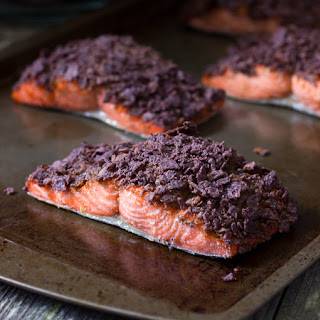 Chipotle Blue Corn Tortilla Crusted Salmon