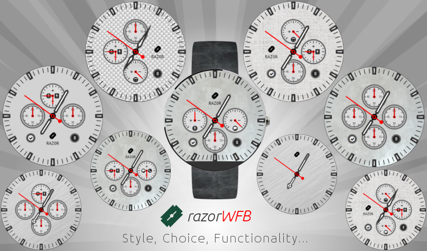 razorWFB Wear Watch Face- screenshot