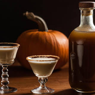 Homemade Pumpkin Spice Liqueur.