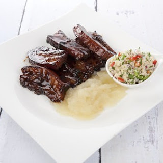 Sticky Glazed Pork Ribs.
