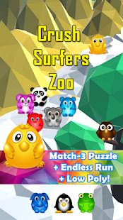 Crush Surfers 🐻🐯🦁 Match Puzzle & Endless 1