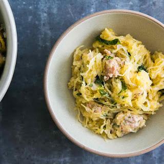 Roasted Spaghetti Squash with Sausage and Kale Recipe