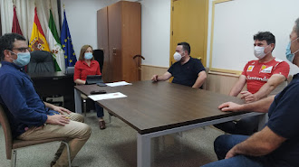Reunión con los representantes de los vendedores ambulantes en Huércal-Overa.